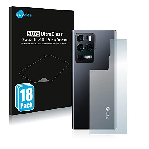 Savvies 18x Schutzfolie kompatibel mit ZTE Axon 30 Ultra 5G (Rückseite) Bildschirmschutz-Folie Ultra-transparent
