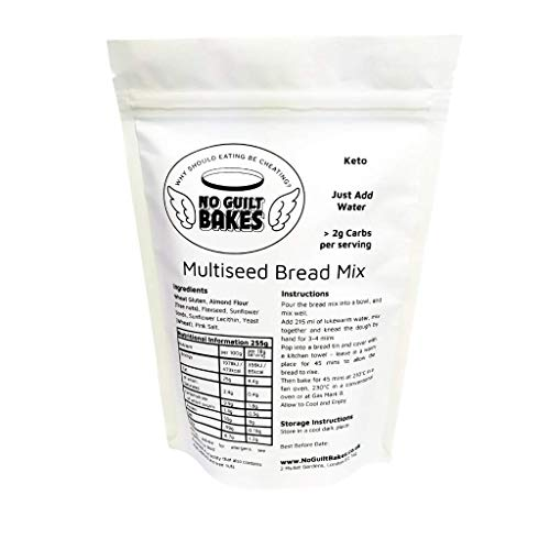 No Guilt Bakes Seeded Low Carb Bread Mix - No Sugar Added, Healthy Diabetic, Dessert, Keto Diet Snack
