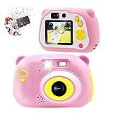 Sonkir 32GB Kids Camera 15.0MP Appareil Photo numérique Rechargeable Avant et arrière caméra...