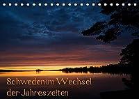 Schweden im Wechsel der Jahreszeiten (Tischkalender 2022 DIN A5 quer): Wunderschoene Stimmungen und Landschaften aus Schweden (Monatskalender, 14 Seiten )