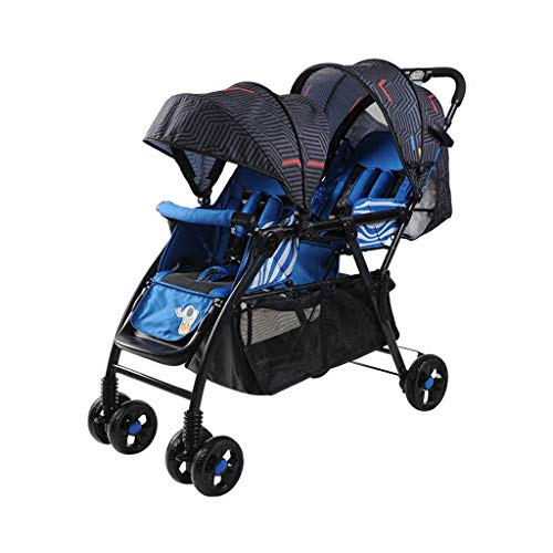 Great Deal! MEI Baby Trolley Twin Stroller Seated Horizontal Portable Folding Shock Absorber Strolle...