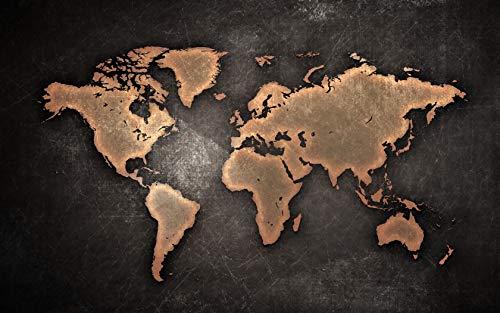 Puzzle 1000 Piezas Mapa del mundo vintage DIY rompecabezas de madera regalo único estilo de decoración del hogar