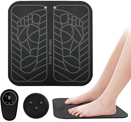 CCVV EMS Fußmassager, USB Aufladbare Folding Bewegliche Elektrische Massage-Matte, Elektronische Muskel Stimulatior Feet Massage Fördert Die Durchblutung Muskelschmerzlinderung,B