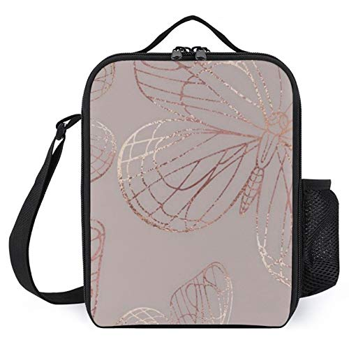 VinMea Insulated Lunch Bags Reusable Cooler Bag Waterproof Lunch Box 50 Best Rose Gold Portable Lunch Kit for Work Picnic School Tote Bag