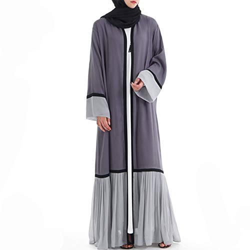 Dames moslimen cardigan maxi-jurk kimono open abaya jurk kaftan Dubai moslim caftans elegante jurk lang patchwork jurk moslim