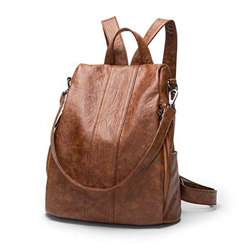 MEISTAR リュックサックレディースファッションレザーバッグ大容量3WAY無地防水軽量カジュアル防犯人気通学旅行