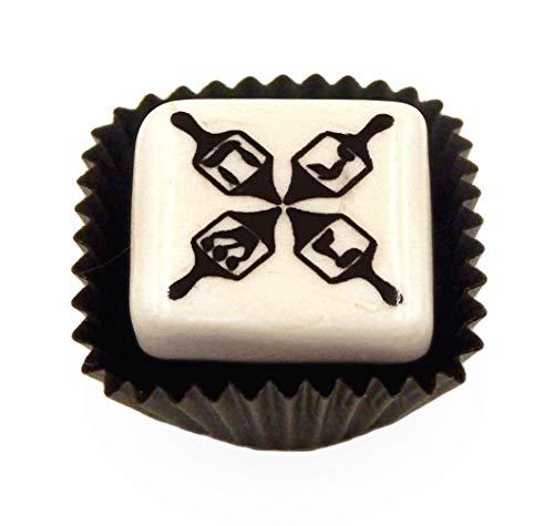 Glass Hanukkah Dreidel Chocolate Handmade Gift Home Table Décor Accent Holiday