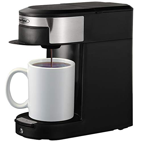 Discover Bargain Coffee Maker Single Serve, Coffee Pod & Tea Pod 2 in 1 Coffee Machine, Black