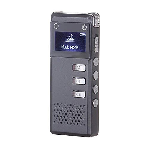 ILYO Grabadora De Voz Digital, 16GB HD Cancelación De Ruido De Digitaces del Registrador Recargable Grabadora De Cinta con Micrófono Incorporado-Altavoz