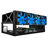 Kingwin Bitcoin Miner Rig Case W/ 6 GPU Mining Frame - Expert Crypto Mining Rack W/ Placement for Motherboard for Mining - Air Convection to Improve GPU Cryptocurrency