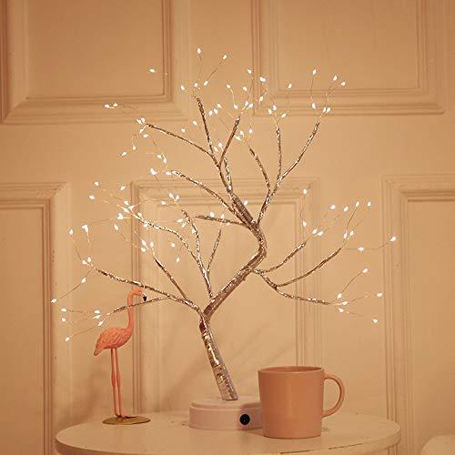 LED Arbre schneebaum 50cm leuchtbaum 24 LEDs Blanc Chaud Intérieur Extérieure DECO