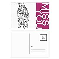 ペンキの冷えた最大の鳥 ポストカードセットサンクスカード郵送側20個ミス