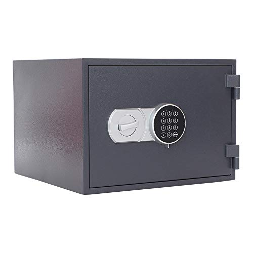 Profirst Versal Fire 40 Feuerschutztresor ECB S FS60P, feuerfester Dokumentenschrank, Tresor mit Elektronikschloss, Zertifizierter Möbeltresor inkl. Verankerungsmaterial