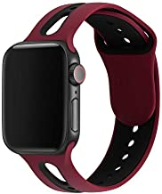 KEYSJEFF Watch Band for Apple Watch Band 42mm 38mm 44mm 40mm Silicone Strap Iwatch Bands for Apple Watch 4/3/2/1 (#17,42mm/44mm S/M)