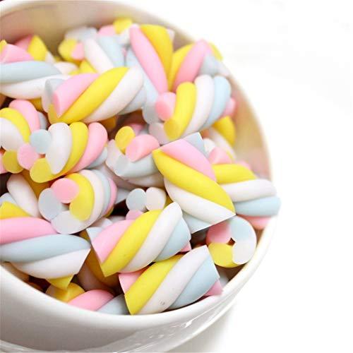 Gwxevce 10pcs Harz Marshmallow Schleim Perlen Schlammfüller Inlay Süßigkeiten Süßigkeiten Spielzeug für Schaum Schleim Wolke Schleim Zubehör DIY Material Dekoration Zufällige Lieferung