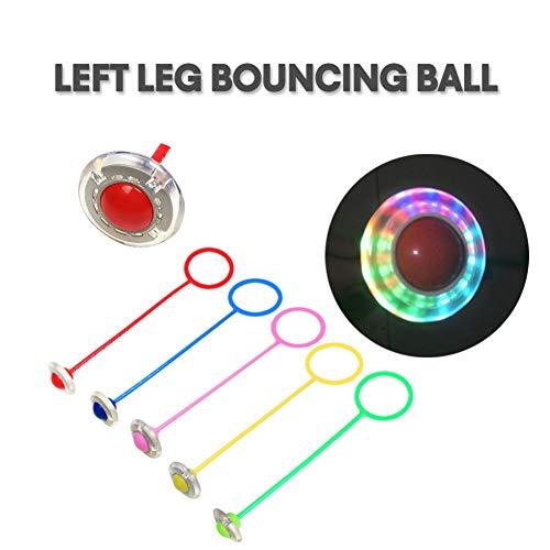 Miyanuby Swing Ball Spielzeug für Kinder Knöchel Skip Ball Flash Jump Ring Skip Ball Sport Fitness Springseil Spiel für Mädchen und Jungen