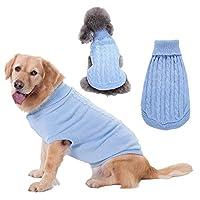 ペット 犬服 ペット製品冬の犬の服のコートジャケットのセーターコットン小ペット犬の服のための犬の服のためのオーバーオール 犬のアパレル (Color : Light blue, サイズ : XXL)