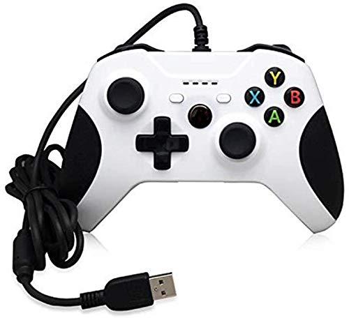 ZGYQGOO Combinaison Manette Chargement USB, Manette PS4, Manette Jeu Vibration Filaire, Manette Jeu, Manette Jeu Manette Filaire, Compatibilité pour Android et iOS, Blanc