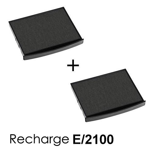 2 Stück Tintenkassetten E/2100 Nachfüllpack für Stempel Color Classic Line 2100 Schwarz
