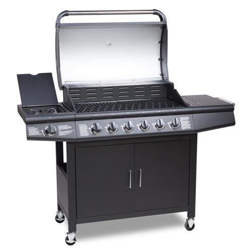 CosmoGrill™ 6+1 Deluxe Gas Burner Grill BBQ Barbecue incl. Side Burner