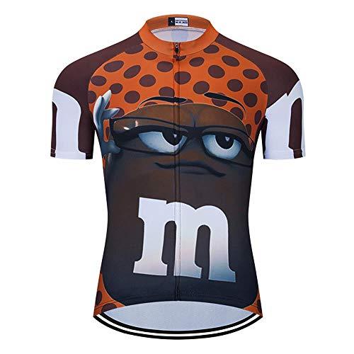 MOXILYN Men's Cycling Jersey Short Sleeves Funny Jerseys Quick-Drying Bike Shirt MTB Mountain Bike Clothing