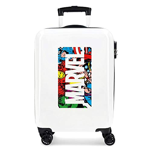 Marvel Action Marvel Cabin Suitcase White 38 x 55 x 20 cm Rigid ABS Side Combination Closure 34L 2.6 kg 4 Double Wheels Hand Luggage