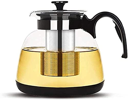 DBOATB Tetera de Capacidad Tetera Tetera de Vidrio Resistente Tetera de Espuma Tetera de Flores Juego de té Tetera para el hogar Filtro de Acero Inoxidable Taza de té