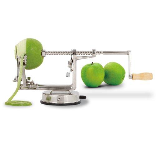 GreatGadgets Apfelschäler Deluxe, aus gehärtetem Aluminium, Vakuum-Saugfuß