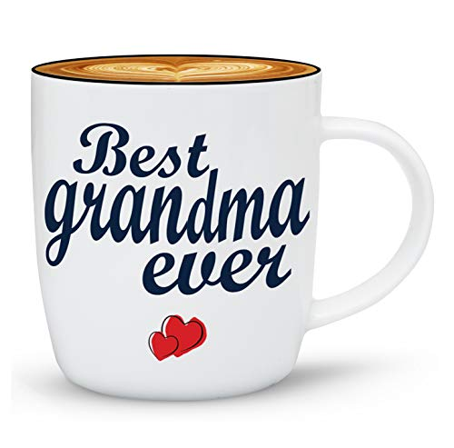 Triple Gifffted Worlds Best Grandma Ever Coffee Mug Gifts From Grandson Granddaughter, Great Birthday Mugs For Greatest Grandparents, Christmas, Mothers Day, Grandkids, Grandchildren, Gift Cups