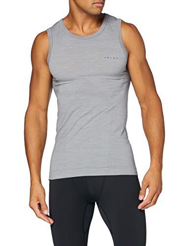 FALKE Herren Wool-Tech Light Unterhemd, Grey-Heather, L