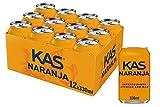 Kas Naranja - Bebida refrescante de zumo de fruta, lata 330 ml - Pack de 12 (Total 3960 ml)