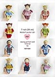 DIY sewing pattern and tutorial of a 7 inch (18 cm) Waldorf pocket doll (Waldorf dolls patterns and tutorials by VARVA Book 1) (English Edition)