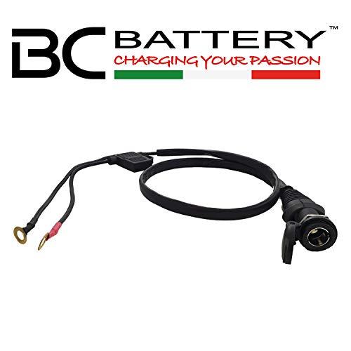 BC Battery Controller 710-FS612V Toma de Mechero 12V DIN 4165 para Moto, Diámetro 12 mm