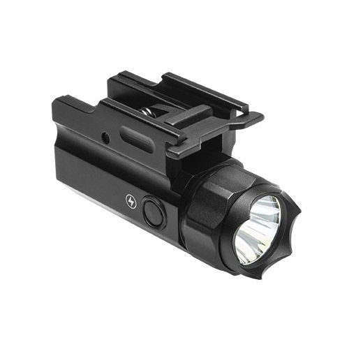 M1SURPLUS Tactical Quick Detach LED Pistol Light Flashlight w/Strobing Function - Fits Ruger SR9 P95 S&W M&P 2.0 Springfield XD FN 509 FNX FNS Five-Seven Full Size Pistols