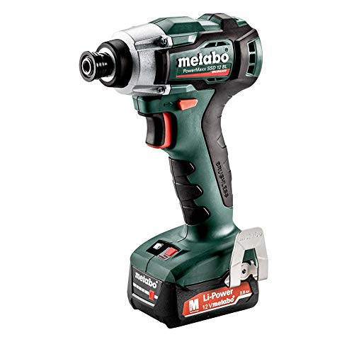 Best Review Of Metabo - 12V Powermaxx 1/4 Hex Compact Brushless Impact Driver Kit 2X 4.0Ah Lihd (6...