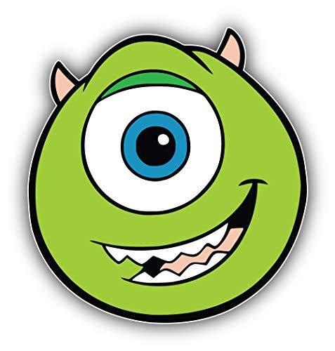 valstick Monsters Inc Cartoon Mike Wazowski Face Car Bumper Sticker Decal