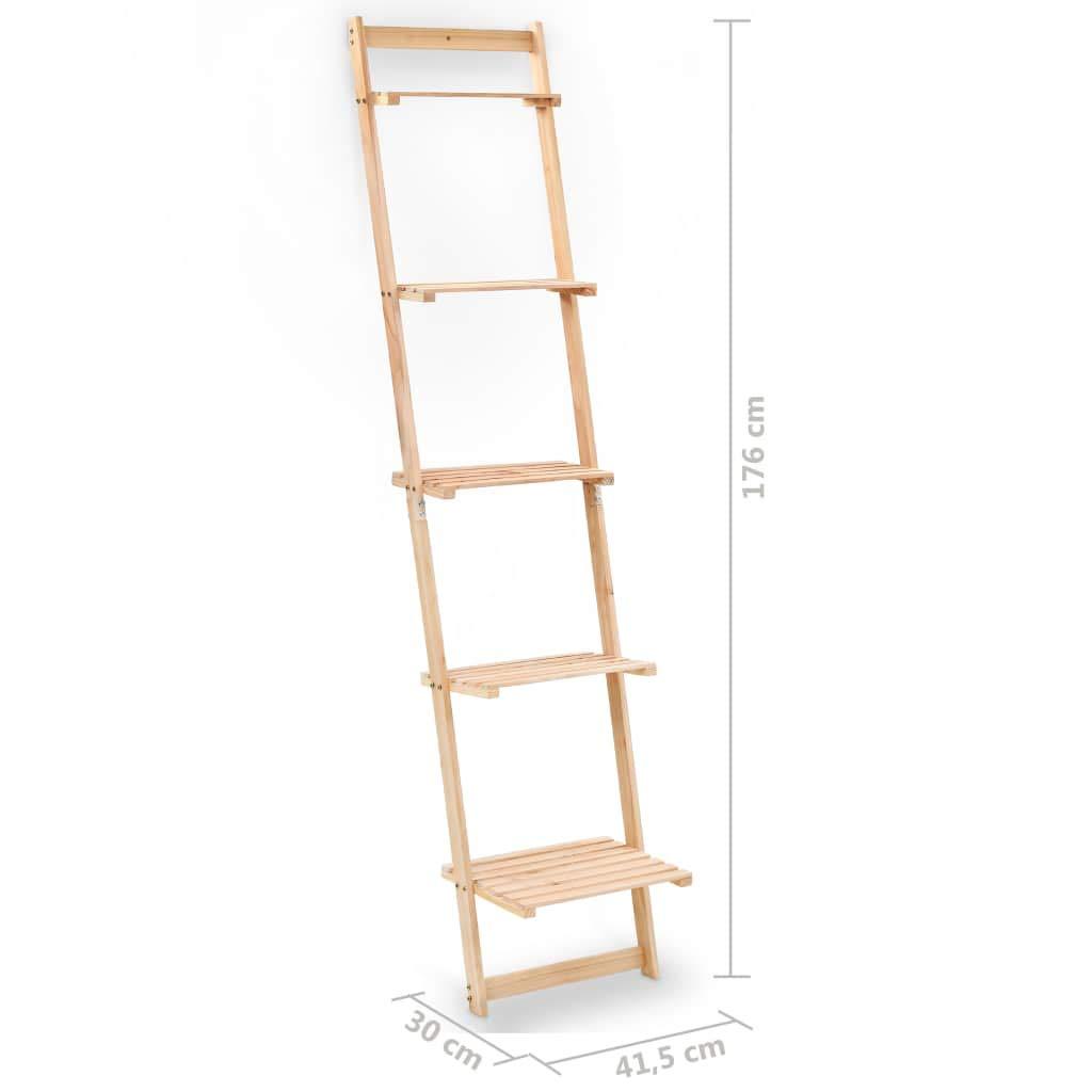 vidaXL Estantería de Pared Escalera Madera de Cedro 41,5x30x176 cm ...