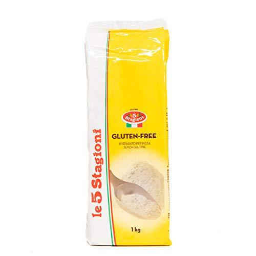 Le 5 Stagioni - Harina de pizza italiana sin gluten,- Producto 100 % Italiano para Preparar Específicamente Pizza Sin Gluten - 1 Kilogramo
