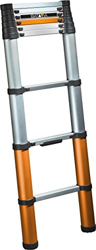 Batavia 7062763 Telescopische 2.62m Ladder met stabilisatorstang, Zilver/Oranje/Zwart
