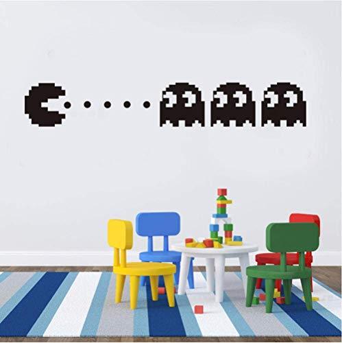 Neue Pacman Vinyl Wandtattoo Home Decor Kinderzimmer Dekor Schlafzimmer Diy Wallpaper Abnehmbare Wandaufkleber 58X36Cm