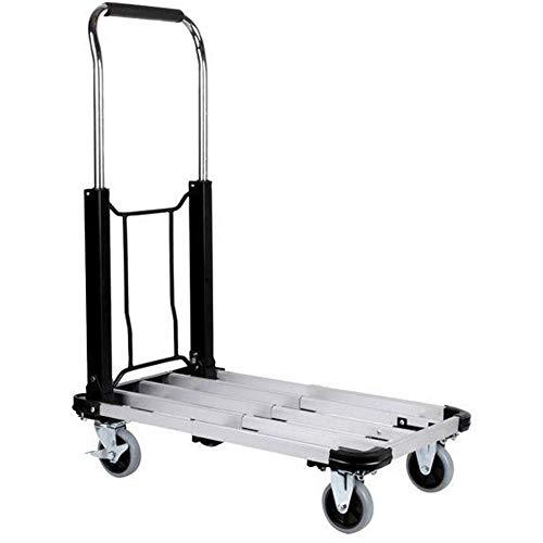 Bakaji Carrello Portapacchi Portatutto da trasporto con manico Pieghevole, Pianale portata massima 150 kg, con 4 Ruote Struttura Acciaio Dimensioni Aperto 71 x 42 x 94 cm