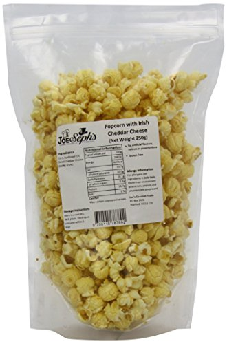 Joe & Seph's Cheddar Cheese Popcorn Bulk Catering Pack - 1 x Bulk Bag | Handmade in UK, using real cheese | Gluten Free | Air-popped | All-natural ingredients | Movie night in - 250g