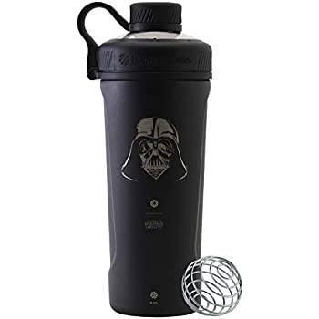 BlenderBottle Star Wars Radian Shaker Cup Insulated Stainless Steel Water Bottle with Wire Whisk 26-Ounce Darth Vader