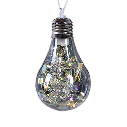 1PC Christmas Decorations Christmas Tree Ornaments Accessories Drift Bottle-Shaped Decorative Lights Hanging Craft Products Window Decoration Accessories