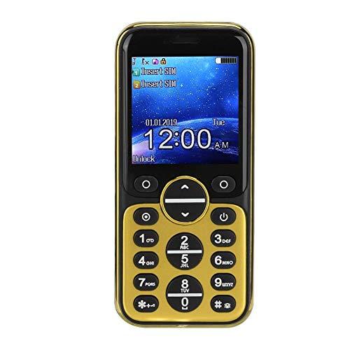 Bluetooth Mini mobiele telefoons - GSM Bluetooth Handset telefoon Oortelefoonkiezer, GSM/GPRS 850/900/1800/1900MHz, Quad Band Dual Card Dual Standby mobiele telefoon(Goud)