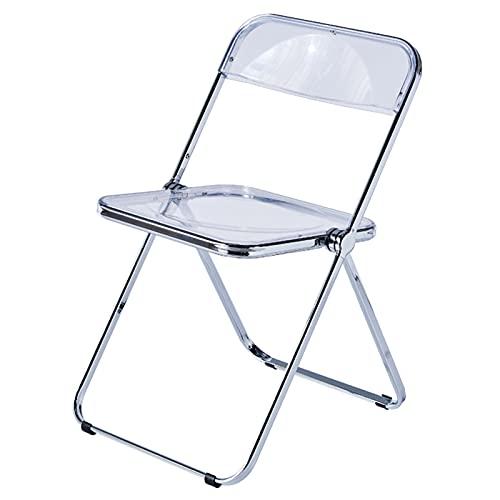 RT-OSXE Acryl-Klappstuhl,transparenter Stuhl für Wohnzimmer,Restaurant,Ausstellungshalle und andere Orte (Color : Clear)