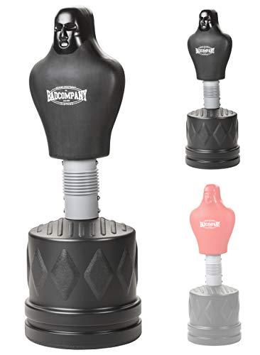 Bad Company Box-Dummy I Höhenverstellbarer Boxsack-Torso für gezieltes Kombinationstraining I BCA-73 (Schwarz)
