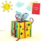 Sethexy 3D Biglietti di compleanno Apparire Schede e buste vuote Farfalla Biglietti d'auguri per tutte le occasioni per Amici Famiglia Bambini Ringraziamento Anniversario