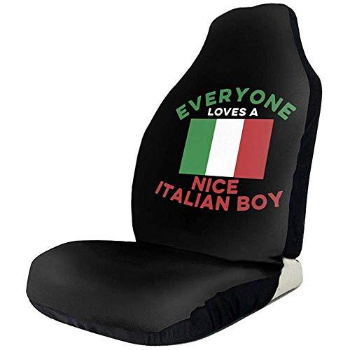 Preisvergleich Produktbild Sobre-mesa Jeder liebt einen schönen italienischen Jungen Flag-1 Bunte Mode Muster Auto Sitzbezüge Komplettsatz von 1 Universal Fit