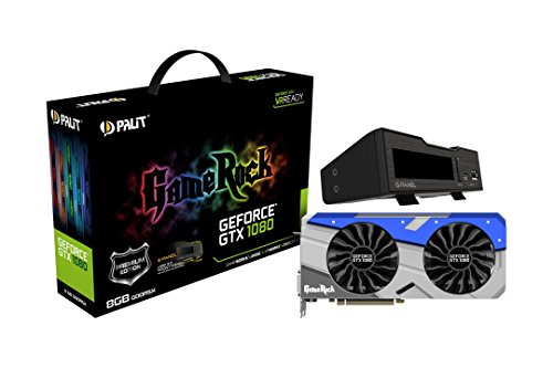 Palit GeForce GTX 1080 NEB1080H15P2GP GameRock Premium mit G-Panel Bundle 1250 Grafikkarte 8GB